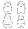 set of fat people vector image vector image