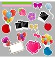 set scrapbook elements vector image