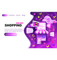 shopping online banner internet marketing store vector image vector image