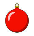 simple bauble for christmas tree isolated on vector image