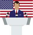 Speaker american flag vector image vector image