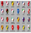 sport competition cups European countries vector image