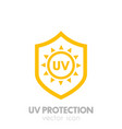 uv protection icon on white vector image vector image