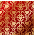 Vintage background with heart vector image vector image