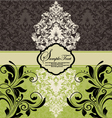 Vintage damask invitation vector image