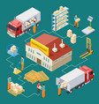 warehouse delivery logistic isometric vector image