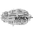 what women want comfort beneath their clothes vector image vector image