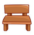 wooden bench isolated vector image vector image
