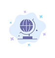 world globe science blue icon on abstract cloud vector image
