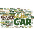 your first car loan what you need to know text vector image vector image
