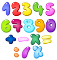 3d bubble numbers vector image