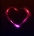 Light heart vector image
