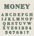 Graphic retro alphabet vector image