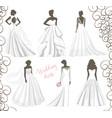 wedding dress set vector image