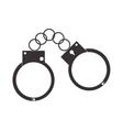 metal handcuffs icon vector image