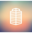 Small Office building thin line icon vector image