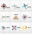 abstract line geometric line business icons vector image