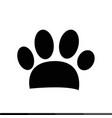animal paw print icon design vector image