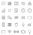 Application line icons on white background vector image vector image