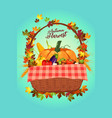 autumn harvest poster vector image
