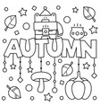 black and white coloring page vector image vector image