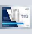 blue business brochure presentation template vector image vector image
