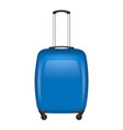blue travel bag icon realistic style vector image