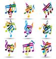 bright expressive jolly musical notes and symbols