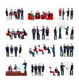 Business Meetings Set vector image vector image