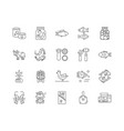 canned production line icons signs set vector image vector image