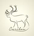 Caribou logo vector image vector image