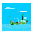 cartoon fishing boat vector image vector image