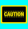 caution yellow sign eps10 vector image vector image