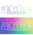 charleston skyline colorful linear style vector image vector image