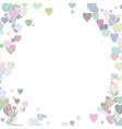 Colored random heart background design - love