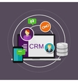 crm customer relationship management vector image vector image
