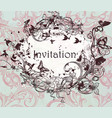 drawn invitation design in classic floral style vector image vector image
