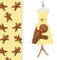 Dress with winter pattern vector image
