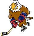eagle sports hockey logo mascot vector image vector image