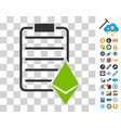 ethereum contract icon with bonus vector image vector image