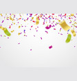 festive balloons background and colorful confetti vector image vector image