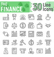 finance line icon set banking symbols collection vector image