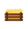 flat icon of empty chicken nest yellow hay vector image vector image