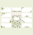floral wedding invitation card save date vector image