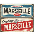 greetings from marseille france vector image vector image