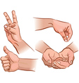 Hands and gestures vector image vector image