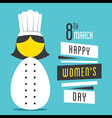 happy womens day women chef profession design vector image vector image
