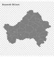 high quality map is a region russia vector image vector image