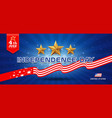 independence day flag united states banners vector image vector image