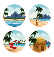 isolated islands cartoon vector image